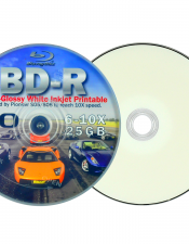 Ryo BD-R Blu-ray 25GB/6-10X Semi-Glossy White Inkjet Printable