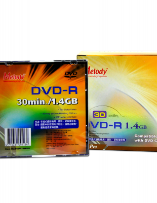 Melody DVD-R 1.4GB/30min.